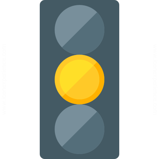 Iconexperience G Collection Trafficlight Yellow Icon