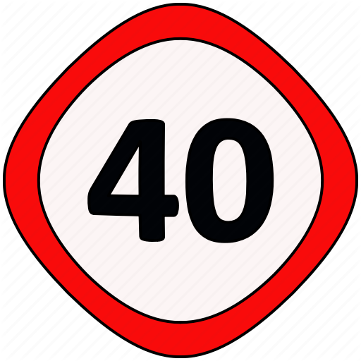 Limit, Signs, Speed, Traffic Icon