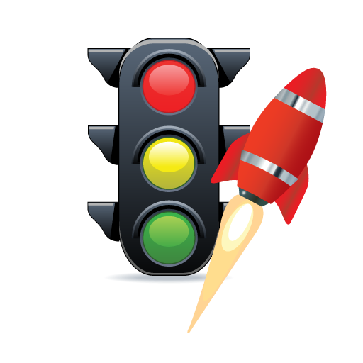 Traffic Rocket Ship Icon