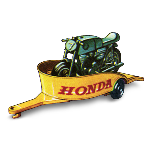 Honda, Motorcycle, With, Trailer Icon Free Of Matchbox Cars