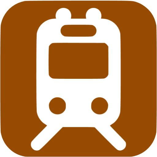 Brown Railway Station Icon