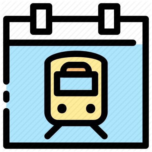 Departure, Schedule, Train, Transportation Icon