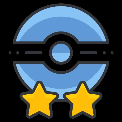 Poke, Trainer, Two, Star, Pokemon Go, Game Icon Free