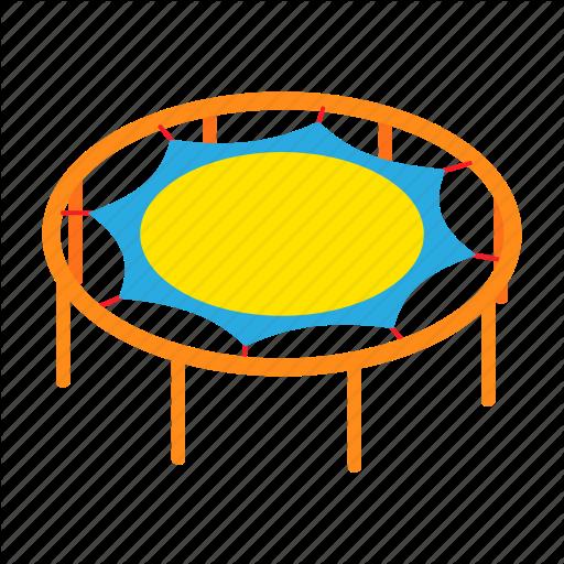 Activity, Cartoon, Fun, Graphic, Motion, Round, Trampoline Icon