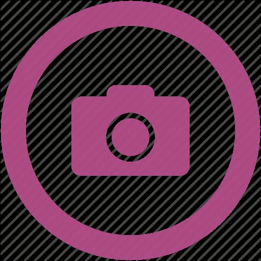 Camera, Digital, Photo, Round Icon