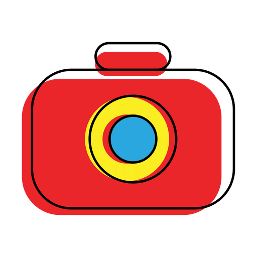 Offset Colorful Camera Icon
