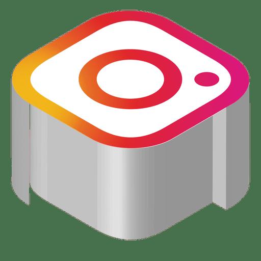 Instagram Isometric Icon