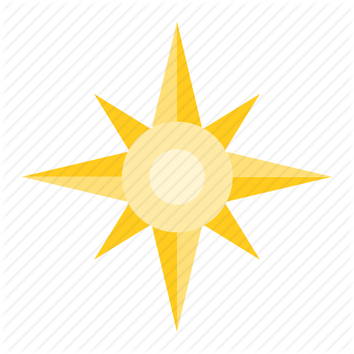 Compass, North Star, Sea, Star Icon
