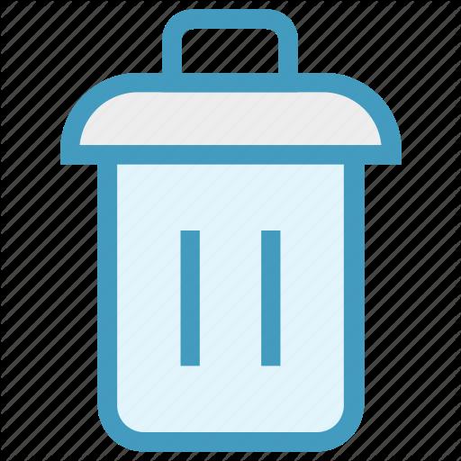Bin, Dustbin, Garbage, Garbage Can, Recycle, Trash, Trash Can Icon