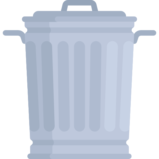 Waste Bin, Trash Can, Garbage Can Icon