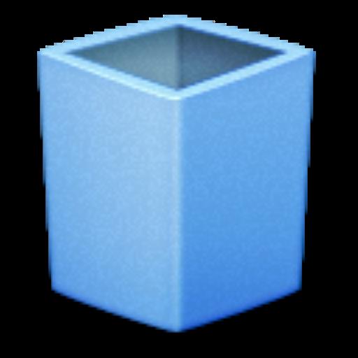 Blue, Empty, Trash Icon