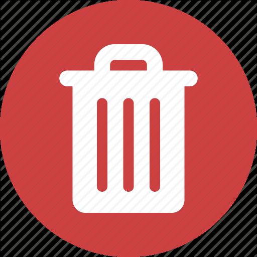Circle, Delete, Garbage, Recycle, Red, Rubbish, Trash Icon