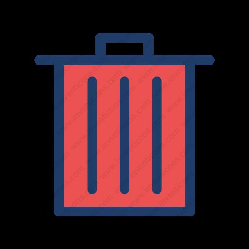 Download Bin,trash Icon Inventicons