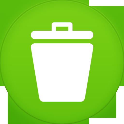 Trash Icon Circle Iconset
