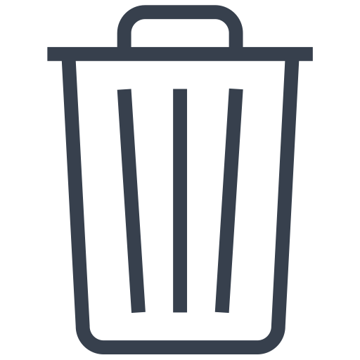 Bin, Delete, Empty, Out, Recycle, Remove, Trash Icon