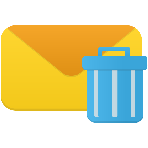 Email Trash Icon Flatastic Iconset Custom Icon Design