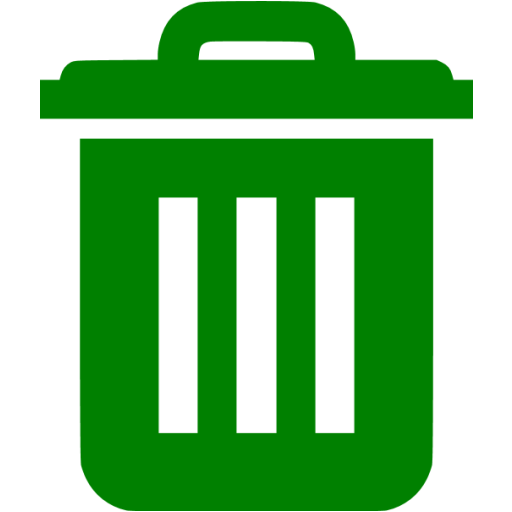 Green Trash Icon