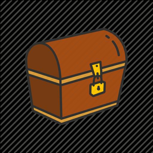 Chest, Deposit Box, Locked Chest, Treasure Chest Icon