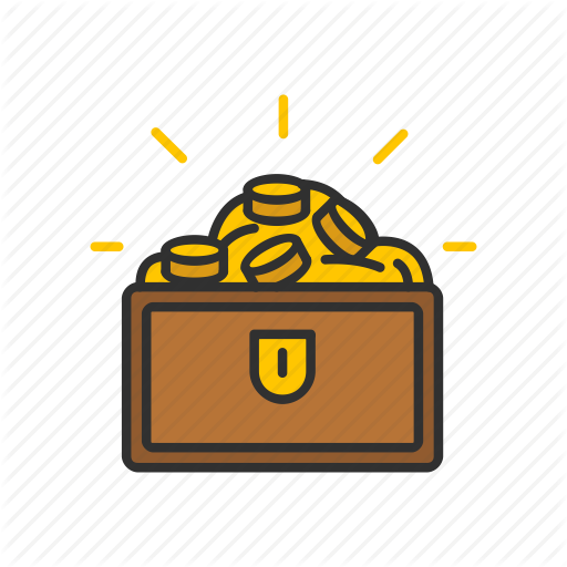 Chest Of Gold, Gold, Gold Coins, Treasure Icon