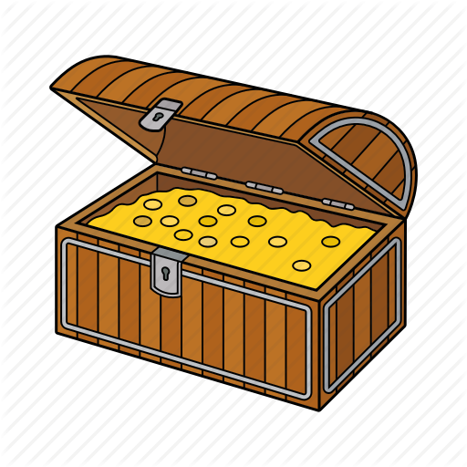 Chest, Golden Chest, Pirates, Treasure Icon
