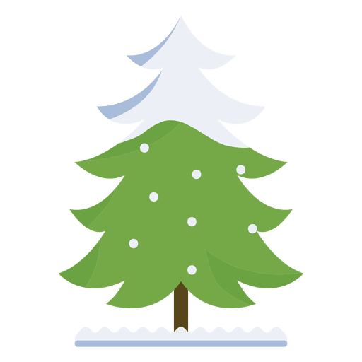 Christmas Tree Snowy Curled Branch Icon