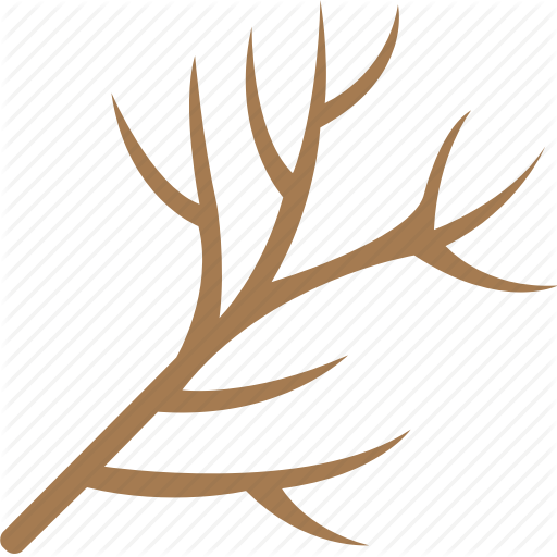 Dead Tree, Dry Plant, Dry Tree Branch, Dry Twig, Tree Branch Icon