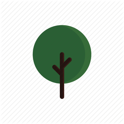 Branches, Circle, Green, Tree Icon