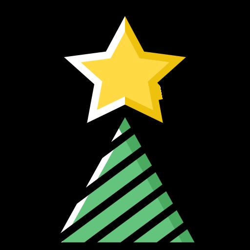 Star Christmas Tree Png Icon