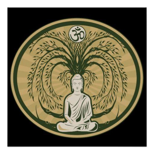Buddha Under The Bodhi Tree Poster Buddha Poster Buddha, Bodhi