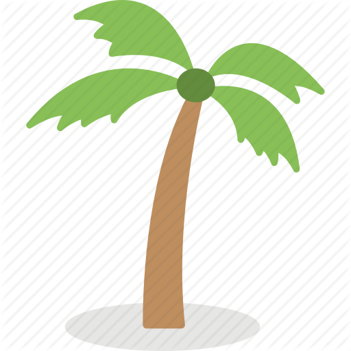 Coconut Tree, Island Tree, Palm Tree, Tree, Tropical Tree Icon