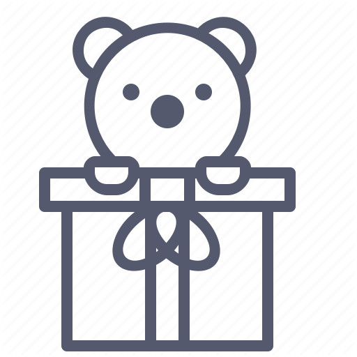Bear, Gifts, Pet, Presents, Toy Icon