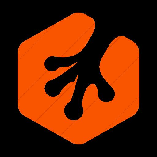 Simple Orange Foundation Social Treehouse Icon