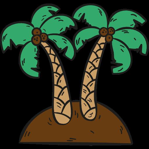 Desert, Island, Palm Trees Icon