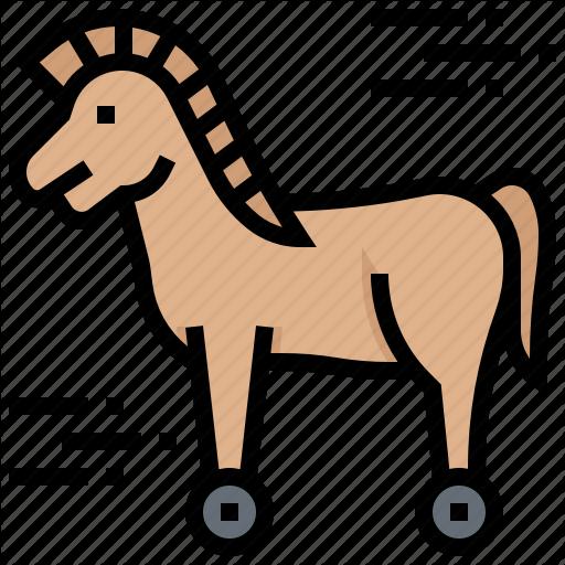 Hacker, Horse, Malware, Trojan, Virus Icon