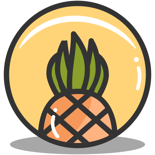 Pineapple, Summer, Vacation, Tropical Icon