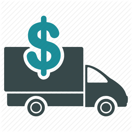 Banking, Costs, Delivery, Price, Transportation, Truck, Van Icon
