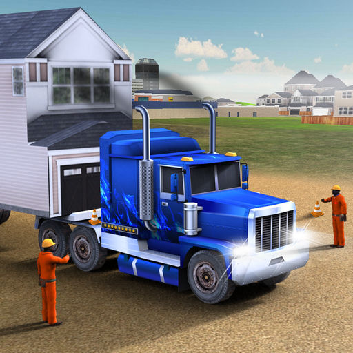 House Moving Big Truck Driver Trucking Parking