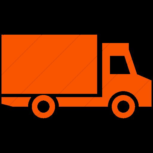 Simple Orange Ocha Humanitarians Logistics Truck Icon