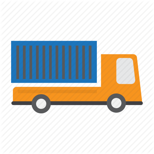 Container, Heavy, Long, Truck, Vehicle Icon