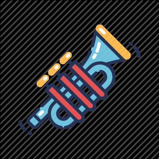 Horn, Instrument, Mardi Gras, Music, Trumpet Icon