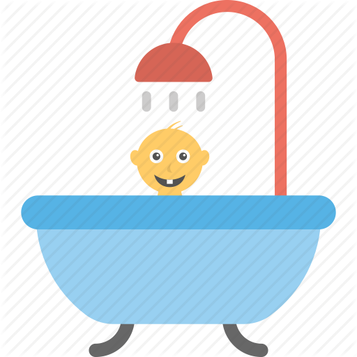 Baby Bath, Baby Bathing, Baby Shower, Baby Tub, Bath Time Icon