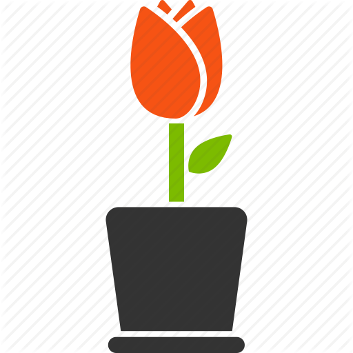 Botany, Flora, Flower, Plant, Pot, Sprout, Tulip Icon