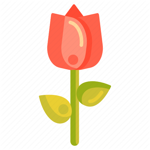 Floral, Flower, Rose, Tulip Icon
