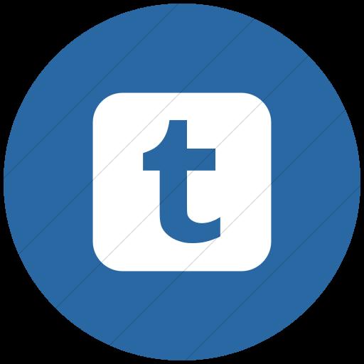 Flat Circle White On Blue Social Media Tumblr Icon