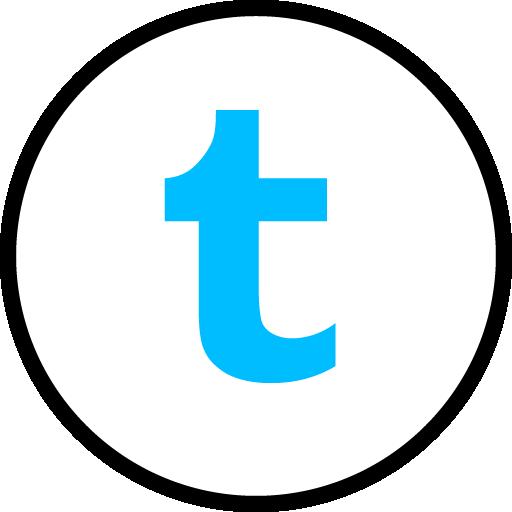 Tumblr Free Social Media Blue Round Outline Icon Design