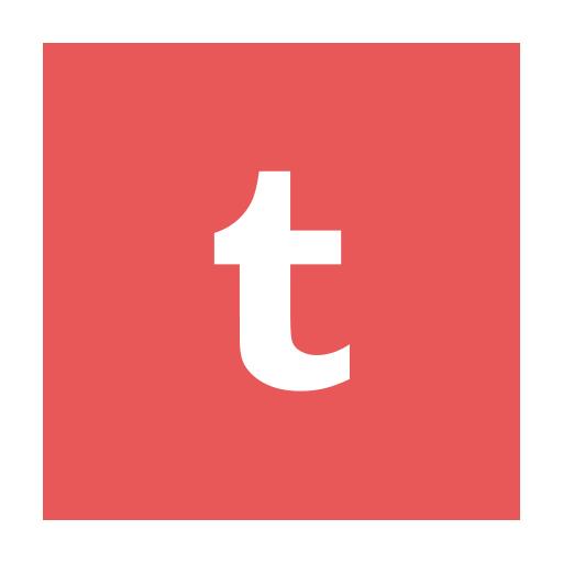 Circular, Modern, Red, T, Tumblr Icon