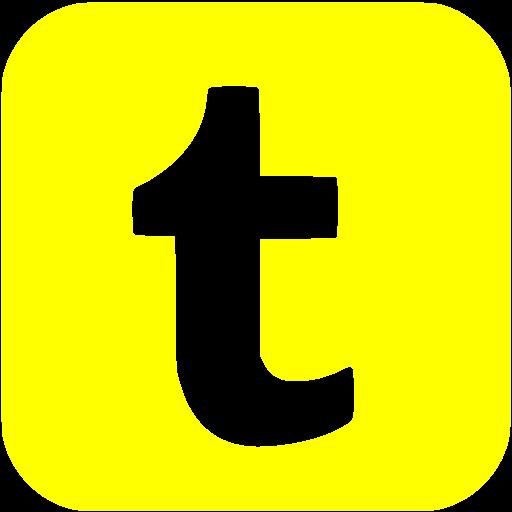 Yellow Tumblr Icon