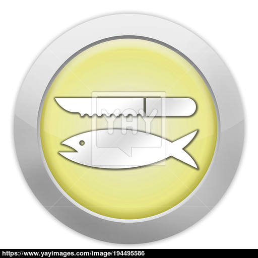 Icon, Button, Pictogram Fish Cleaning Image
