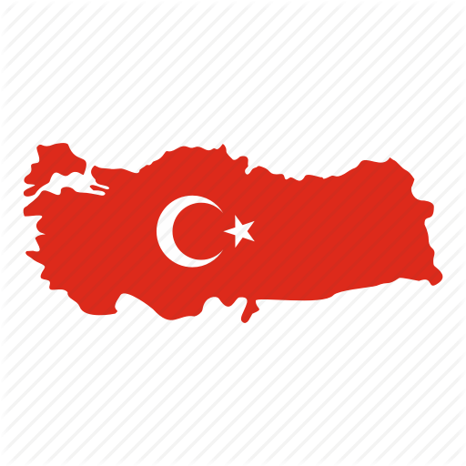 Ankara, Country, Crescent, Map, Star, State, Turkey Icon