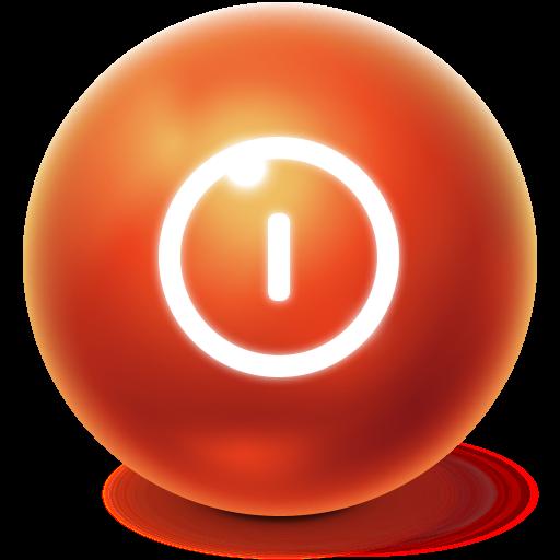 Ball, Turn Off, Shutdown, Bright, Power Off Icon